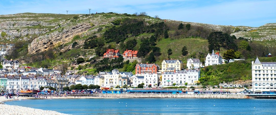 The Elm Tree Hotel in Llandudno sits facing the beautiful wide sweeping bay.