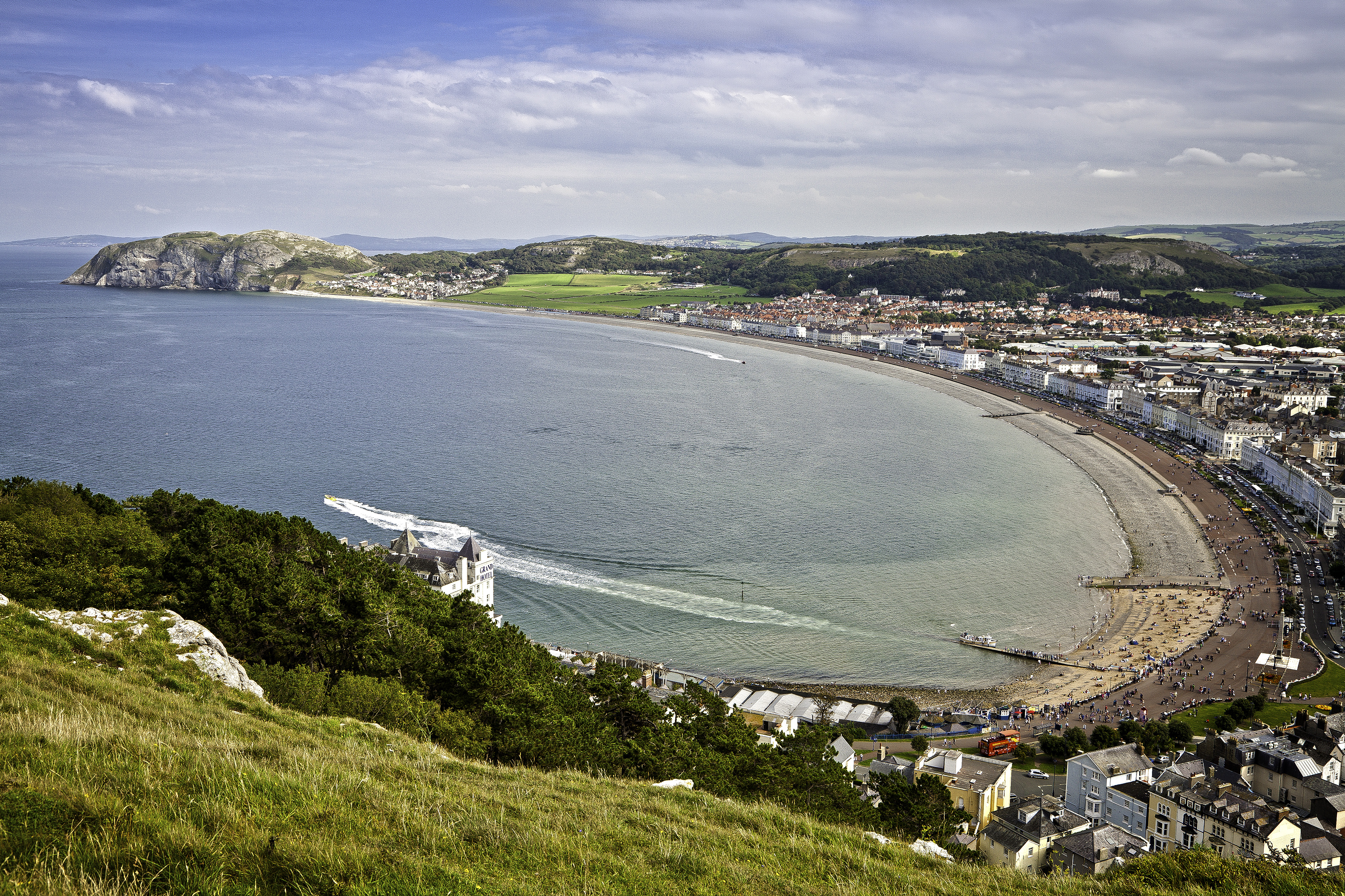 View from Great Orme Llandudno Conwy County North Towns and Villages